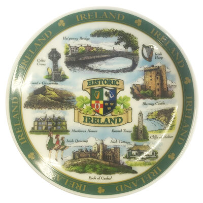 Ireland Designed Ceramic 10Cm Plate Of Famous And Historic Landmarks