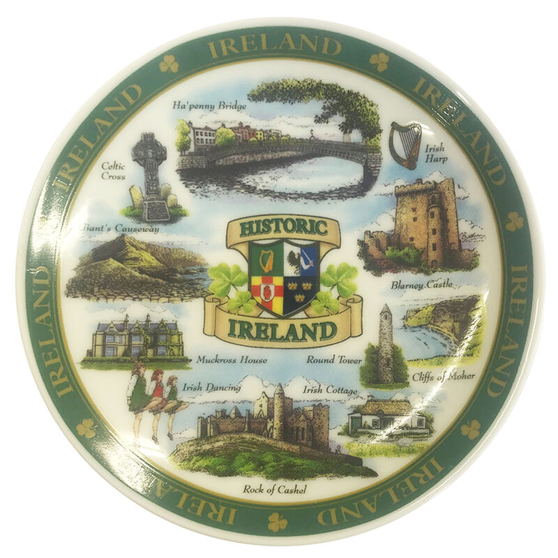 Ireland Designed Ceramic 10Cm Plate Of Famous And Historic Landmarks