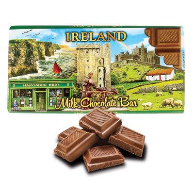 Ireland Famous Landmarks Montage Designed Irish Milk Chocolate  100G