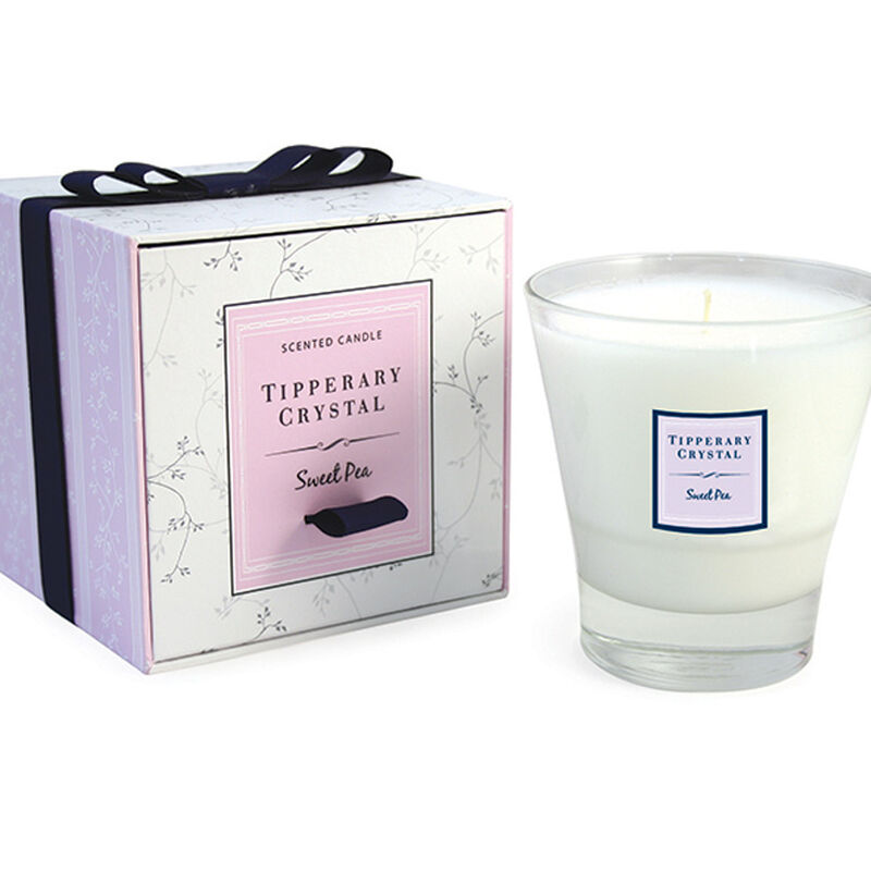 Tipperary Crystal Designed Tumbler Sweet Pea Scented Candle