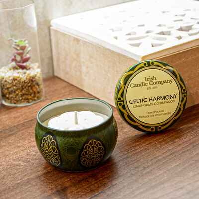 Celtic Harmony Small Lemongrass And Cedarwood Natural Soy Wax Candle