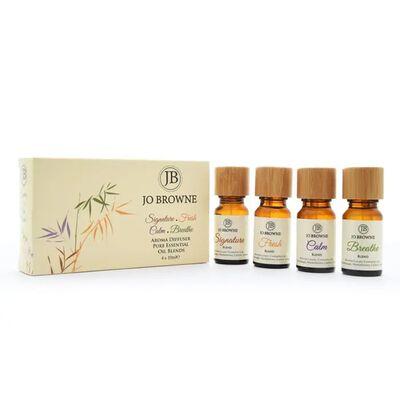 Jo Browne Pure Essential Oil Blend Gift Set 4 x10ml