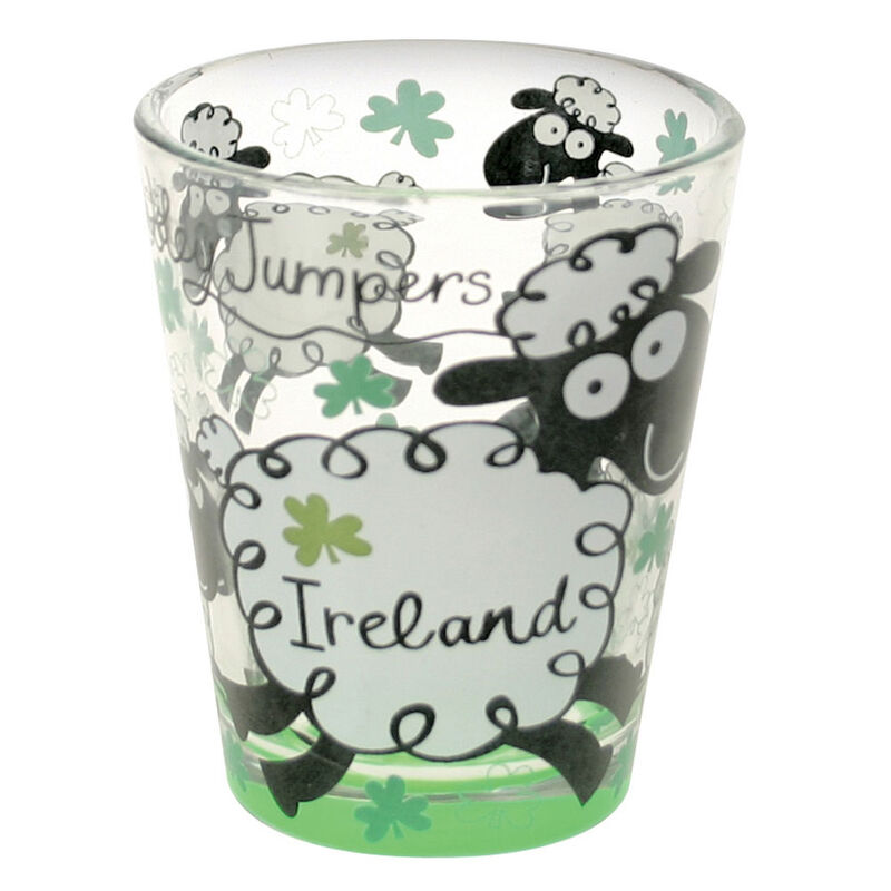 Loose Shot Glass With Wooley Jumpers Sheep Design
