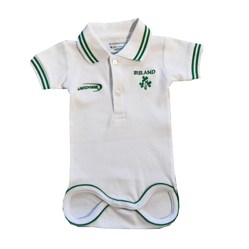 Kids White Ireland Rugby Vest