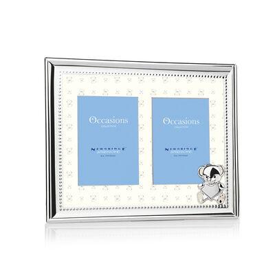 "Newbridge Silverware Silver Plated New Baby Double Frame 3""x4"""