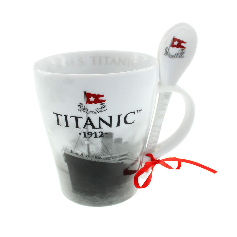 Titanic 1912 White Star Line Collectors Ceramic Mug & Spoon Set