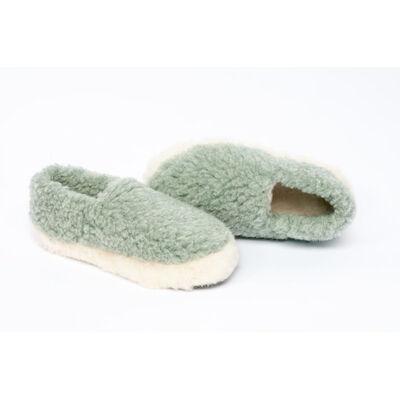 Yoko Wool Siberian Slippers, Green Colour