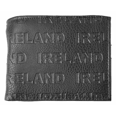Mccabe Collection Ireland Embossed Genuine Leather Wallet  Black Colour
