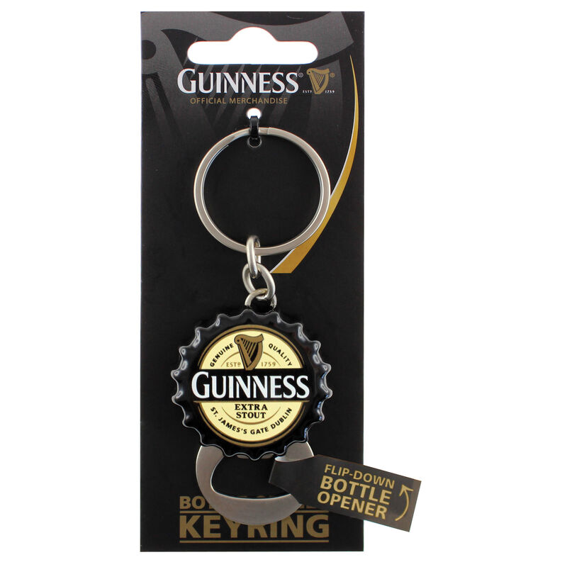 Guinness Contemporary Flip Down Bottle Opener Keychain