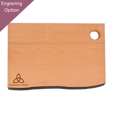 The Irish Collection Rustic Edge Cutting Board With Trinity Knot Design