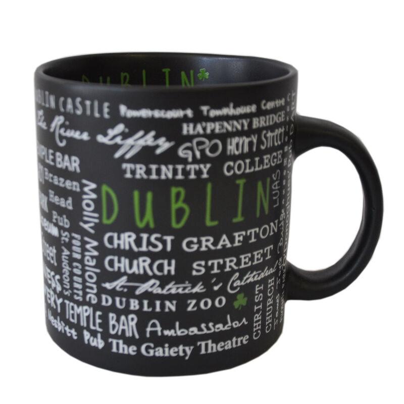 Ceramic Mug With Dublin Graffiti Style Print