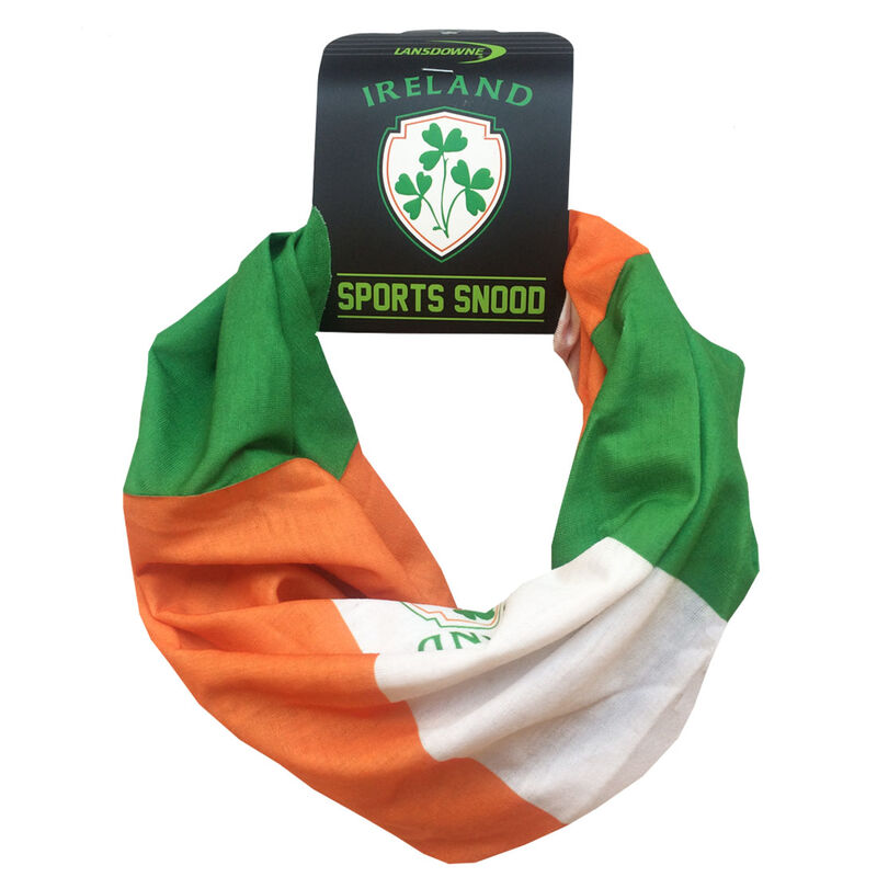 Tri Colour Sports Snood With Ireland Crest