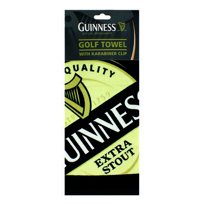 Guinness Golf Towel With Label Print