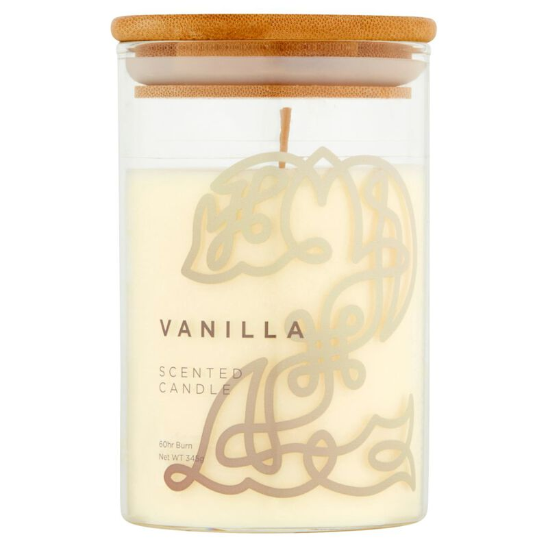 Celtic Collection Vanilla Scented Candle In A Glass Container