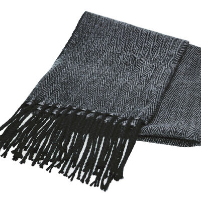 The Quiet Man Grey Herringbone Scarf