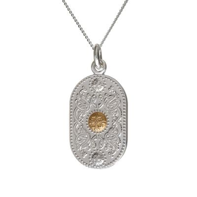 House Of Lor Oval Pendant With 10 Carat Rare Irish Gold Boss