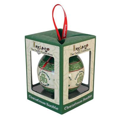 Celtic Collection Christbaumkugel mit Kleeblatt