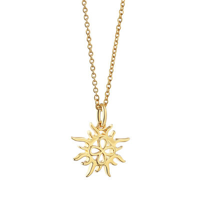 Gold Plated Amy Huberman Newbridge Silverware Sun Pendant