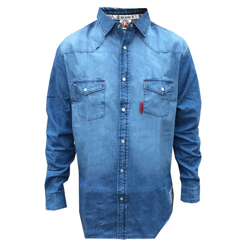 Hop House 13 Arthur Guinness Men's Denim Shirt, Blue Colour