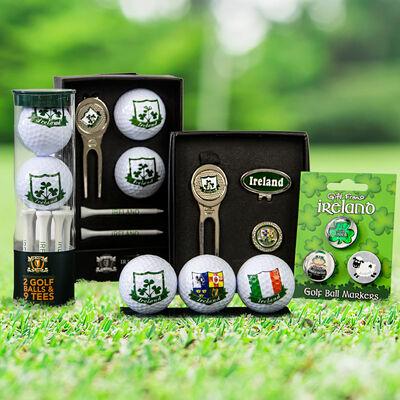 Large Set of Ireland Golf Gift Basket