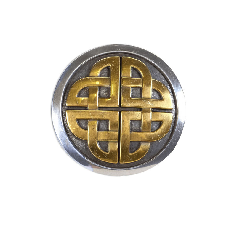 Lee River Two Tone Snap-On Belt Buckle With Celtic Knot Design