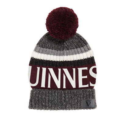 Guinness Speckle Bobble Hat  Burgundy Colour