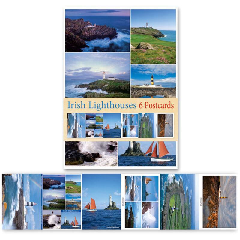 Pack Of Six Postcards Depicting Irish Lighthouses Set Of Six Postcards