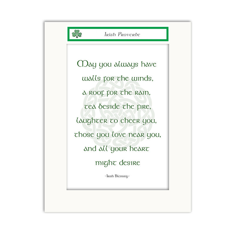 Jumble Ink - May You Always Have, Irish Blessing Design Wall Art Print