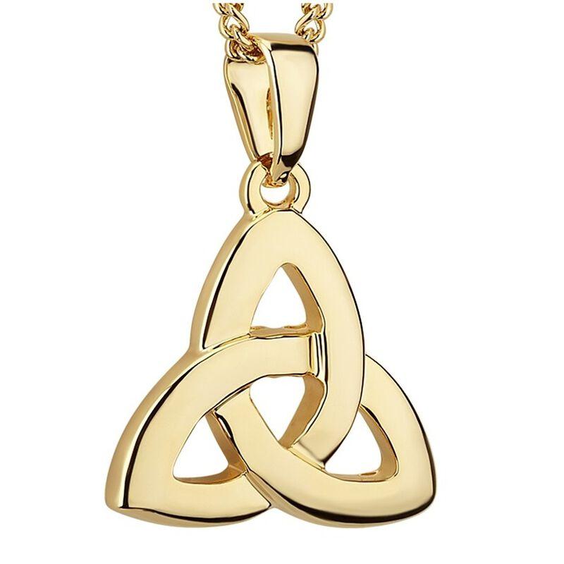 Elegant Gold Plated Irish Celtic Trinity Knot Designed Pendant