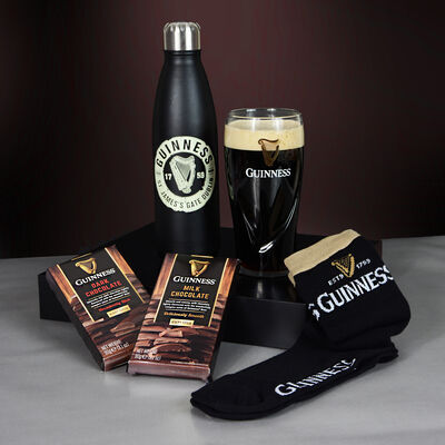 Guinness Pint Glass Christmas Gift Set For Him With Water Bottle