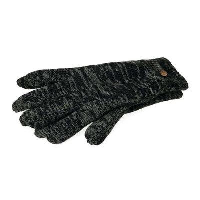 The Quiet Man Collection Elegant Two Tone Gloves  Black Colour