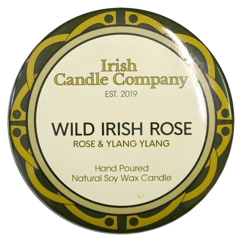 Irish Candle Company Small Wild Irish Rose Natural Soy Wax Candle
