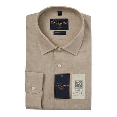 Doogan Donegal 100% Irish Linen Shirt, Kerry Natural Colour