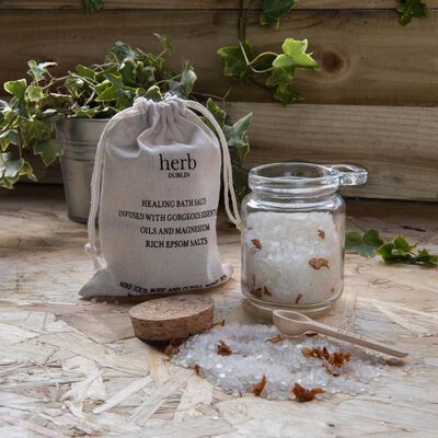 Lavender Healing Bath Salts With Essential Oils And Epsom Salts