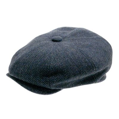 Peaky Irish Collection Premium Quality Newsboy Cap  Blue Colour