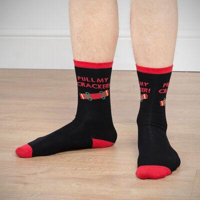 Men's Pull My Cracker Christmas Socks