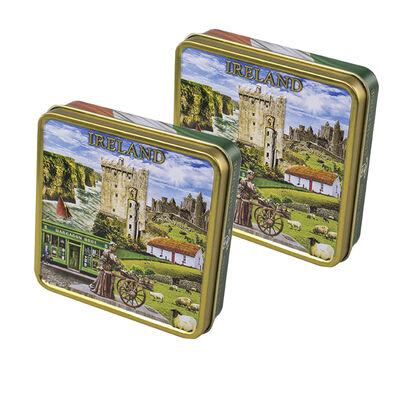 CLEARANCE - Luxury Dairy Cream Irish Fudge With Ireland Montage Designed Tin, 100G ( Two Pack)