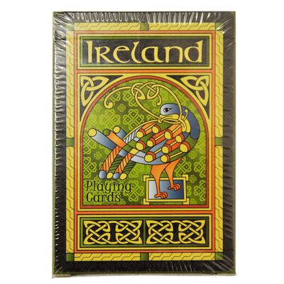 Celtic Peacock Ireland Playing Cards With A Coloured Trinity Design