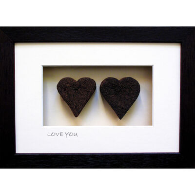 Bog Buddies Love You 2 With Heart Design Turf Wall Frame