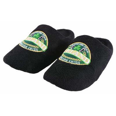 Ireland Genuine Irish Drinking Team Design Slippers  Black Colour