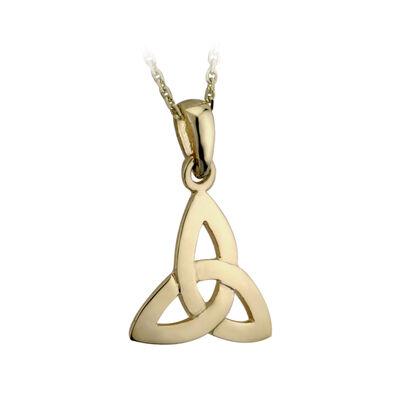 Goldener 9-Karat Anhänger mit Triqueta-Knoten  helles Gold