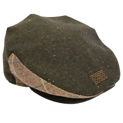 Patrick Francis Irish Tradition Tweed Celtic Knot Flat Cap  Green Colour