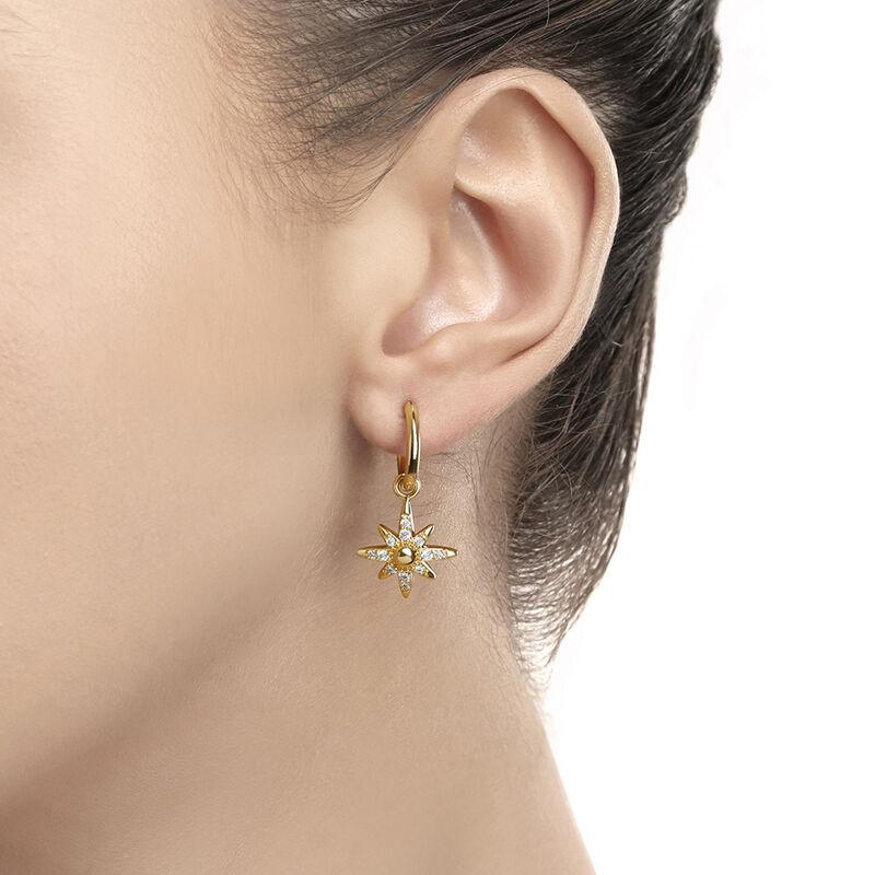 Gold Plated Amy Huberman Newbridge Silverware Star Earrings With Clear Cubic Zirconia