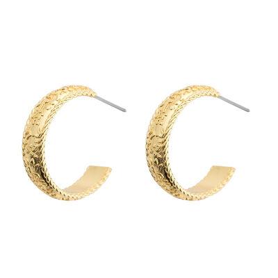 Gold Plated Amy Huberman Newbridge Silverware Hoop Earrings