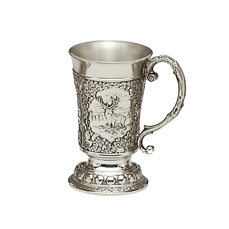 Mullingar Pewter Woodlands Measure With Embossed Animals Design