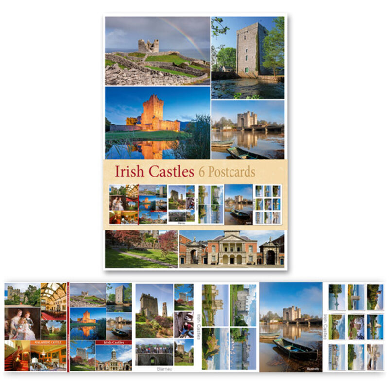 Pack Of Six Postcards Depicting Irish Castles