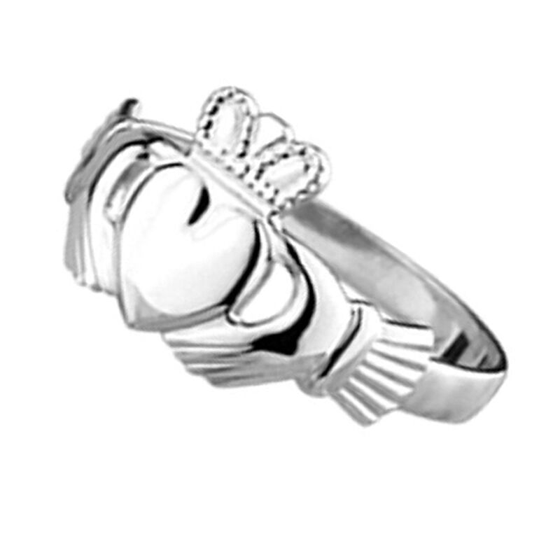 Ladies Solvar Claddagh Ring In Pack  Hallmarked Sterling Silver