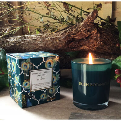 Irish Botanicals Earl Grey & Primrose Natural Scented Candle