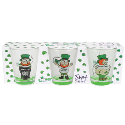 Three Pack Shot Glasses With Looney Leps Designs