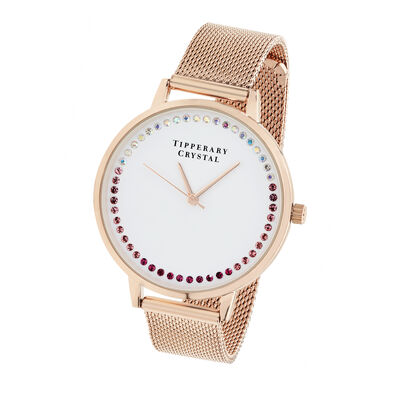 Tipperary Crystal Rose Gold Luminosity Watch